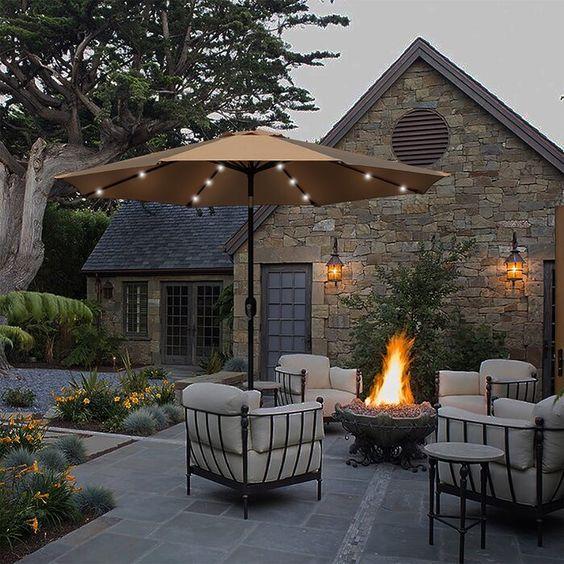 firepit in the backyard