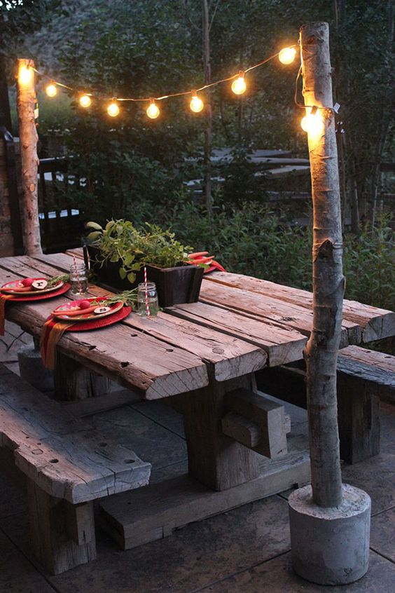 string light for backyard