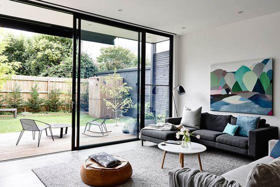 glass door for bright room