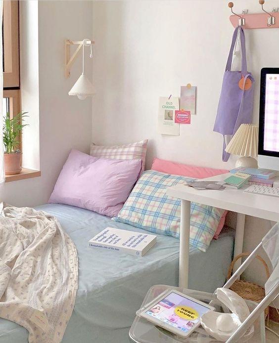 pastel bedding korean bedroom decor