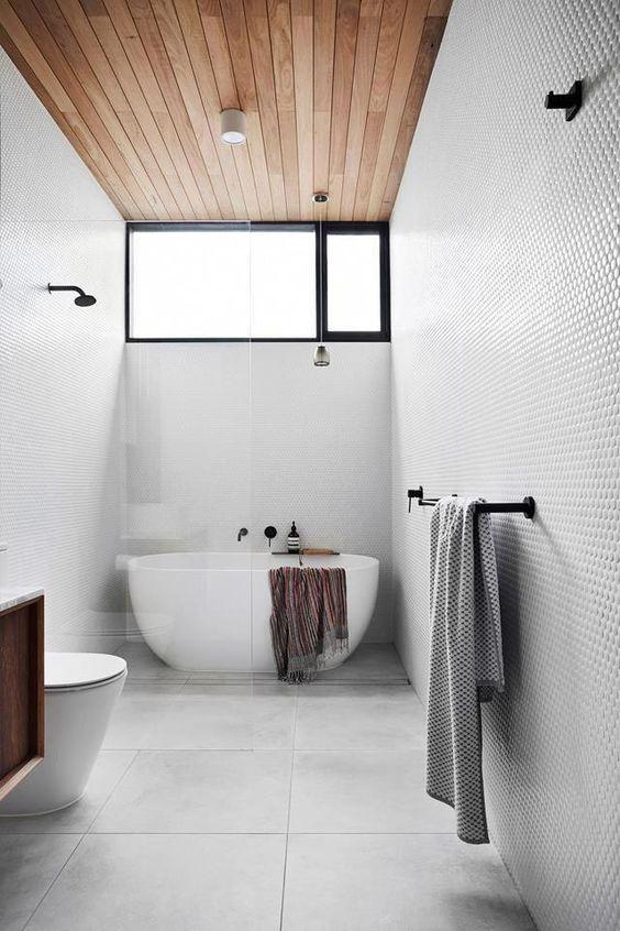 spacious minimalist bathroom