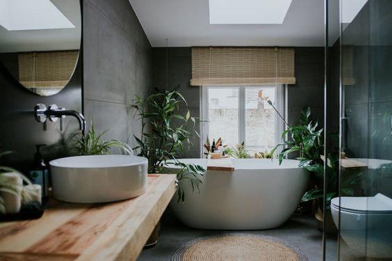dark minimalist bathroom