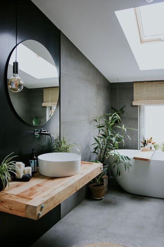 black minimalist bathroom