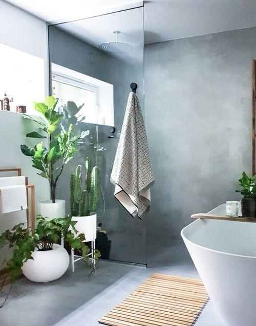 plant bathroom decors