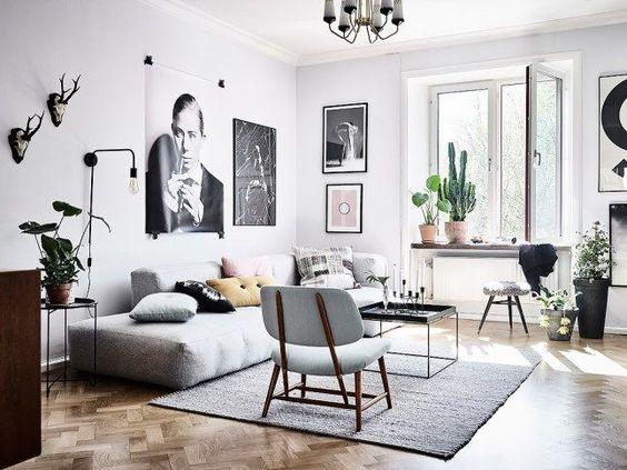 minimalist look scandinavian living room