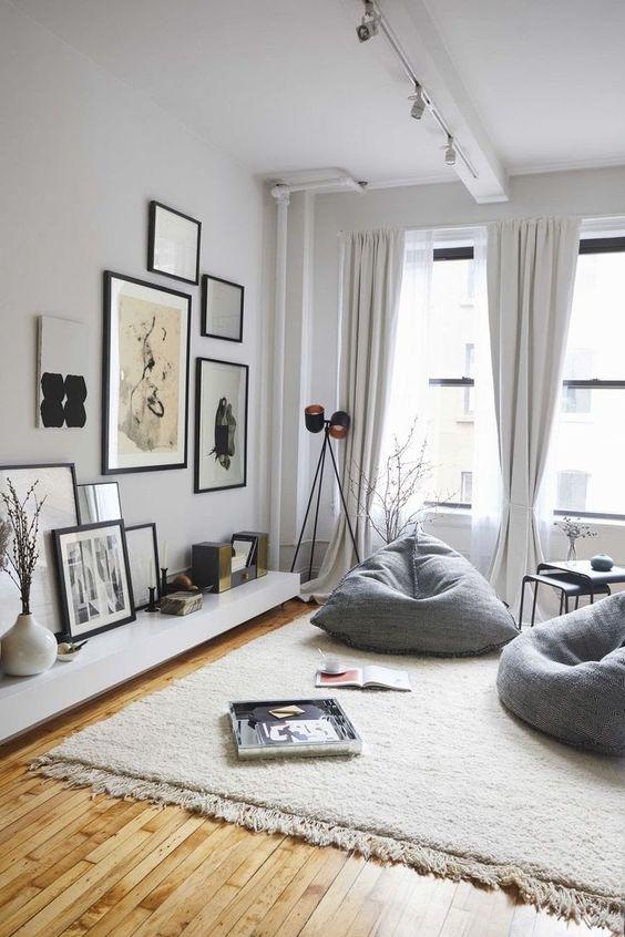 beanbag cozy scandinavian living room