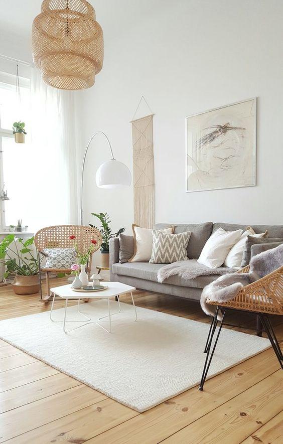 rattan item scandinavian living room decors