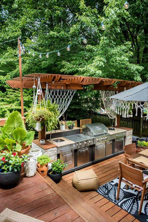 comfortable backyard