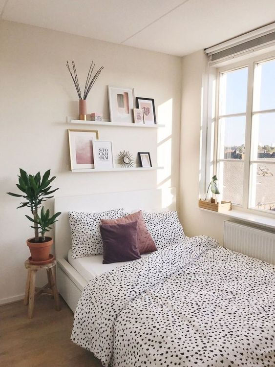 cozy bedroom with natural lighting