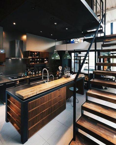 elegant industrial kitchen