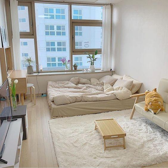 bright korean bedroom