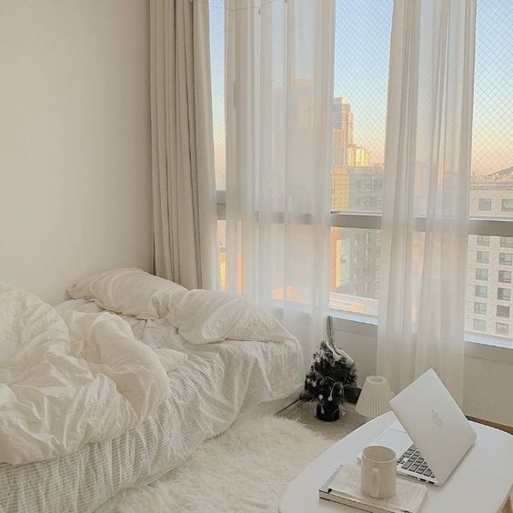 net curtain korean bedroom decor