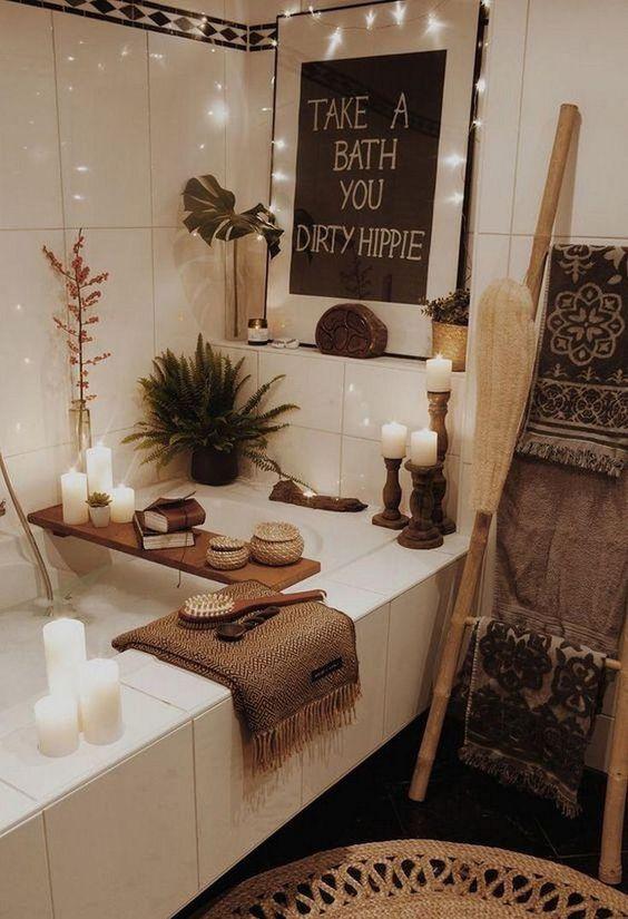 candle light bathroom decors