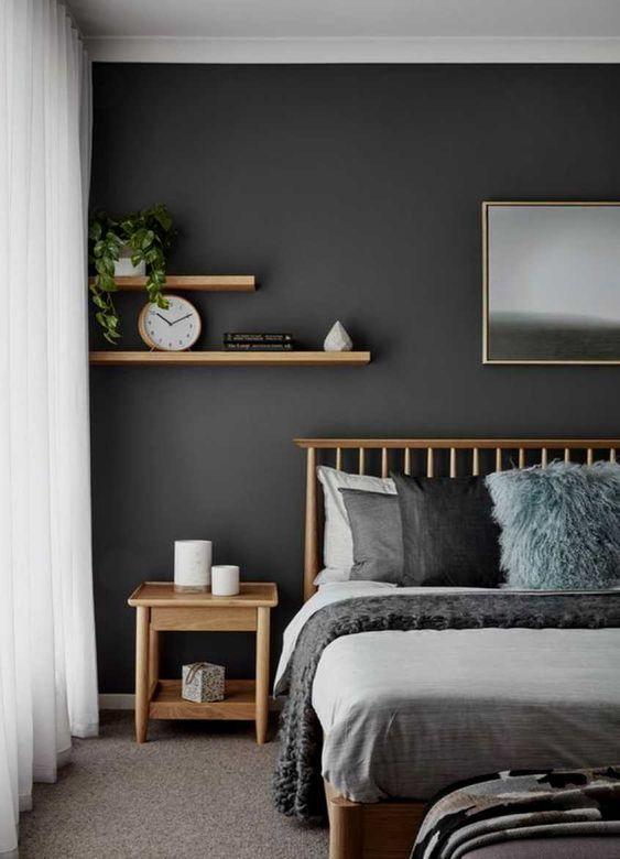 dark scandinavian bedroom