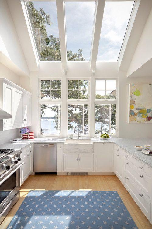 kitchen with skylight window