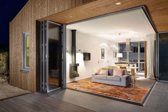 glass facade, modern look