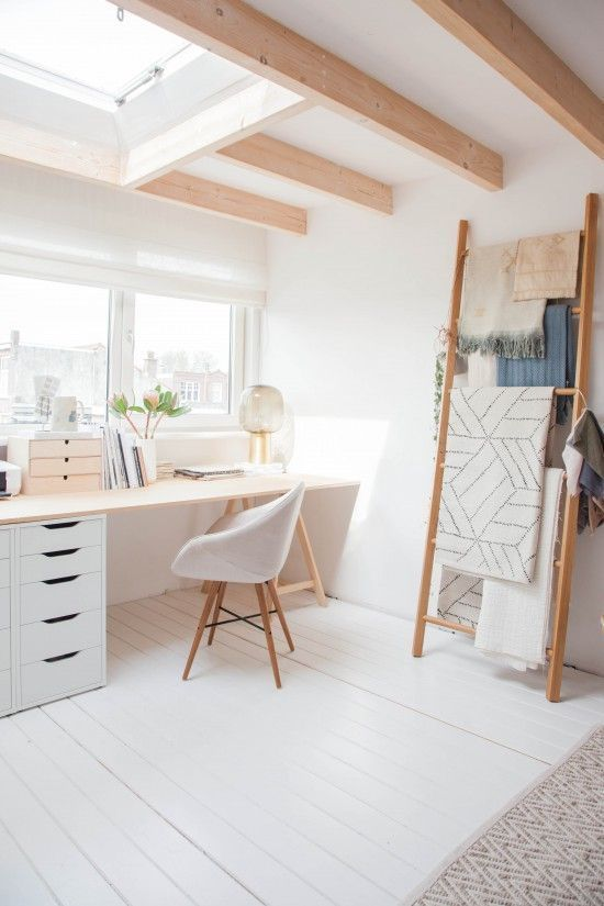 comfortable workspace with natural lighting