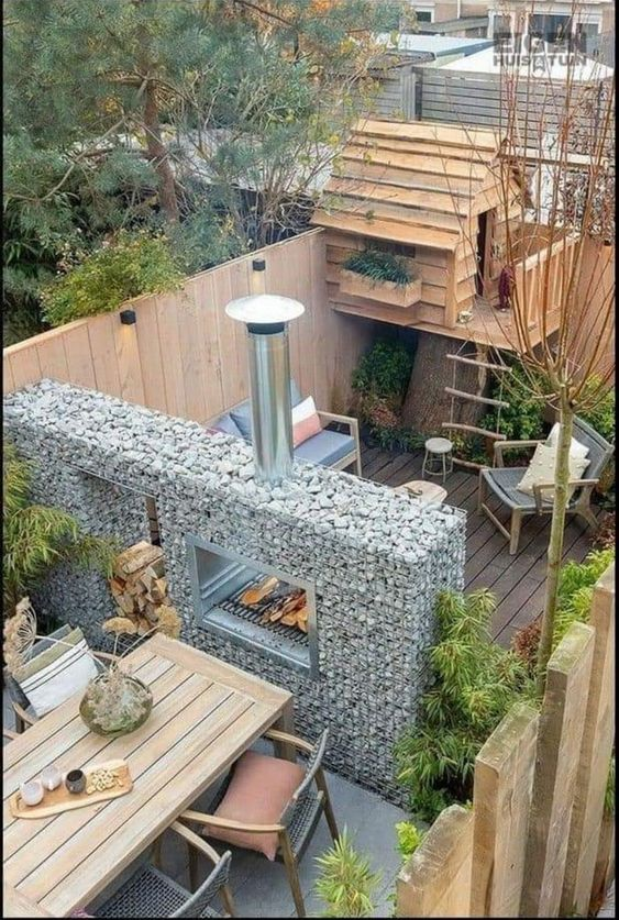 small wooden tree house