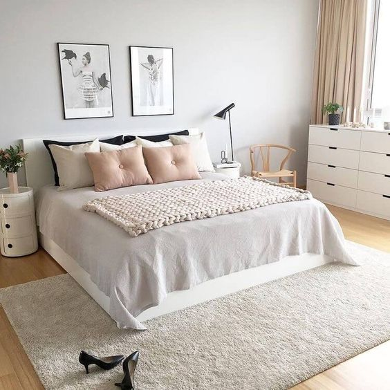 warm scandinavian bedroom