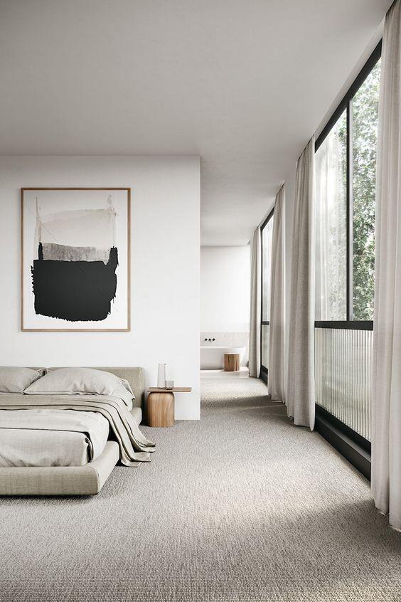 minimalist scandinavian bedroom