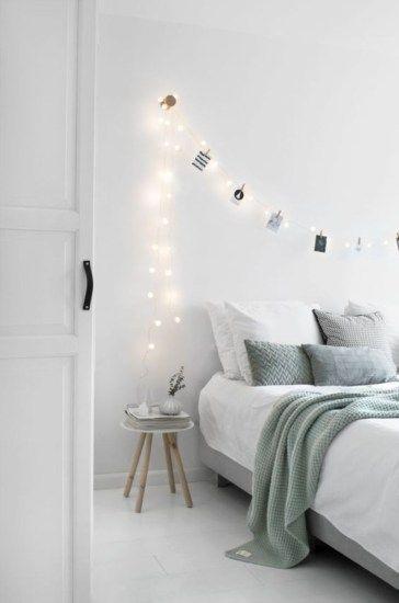 string light scandinavian decor
