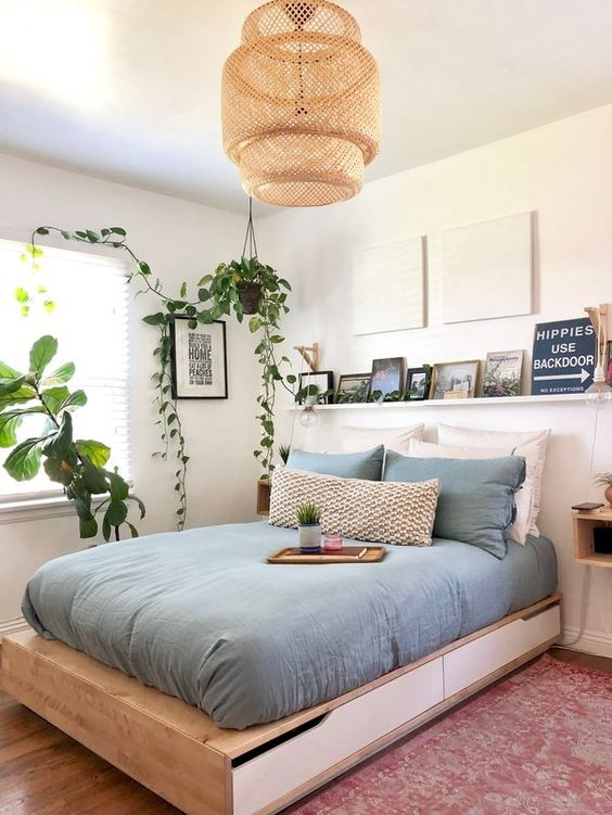 fresh and bright bedroom
