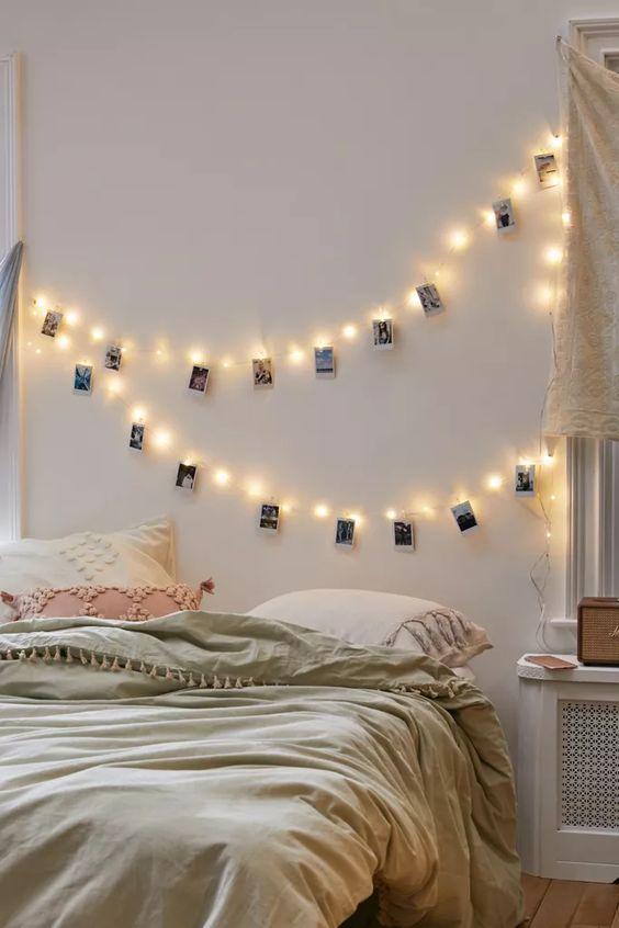 string light bedroom decor