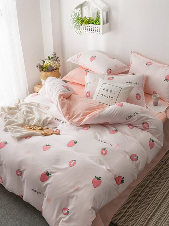 cute motifs bedding sets