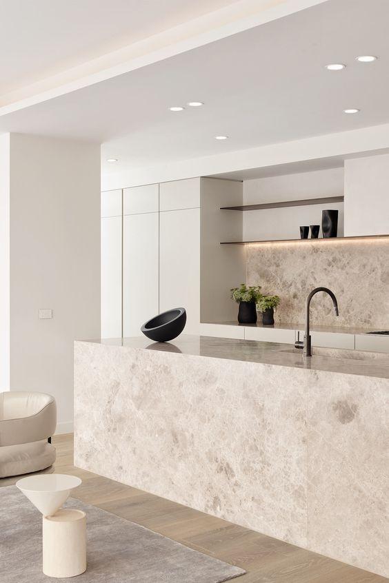 warm beige kitchen