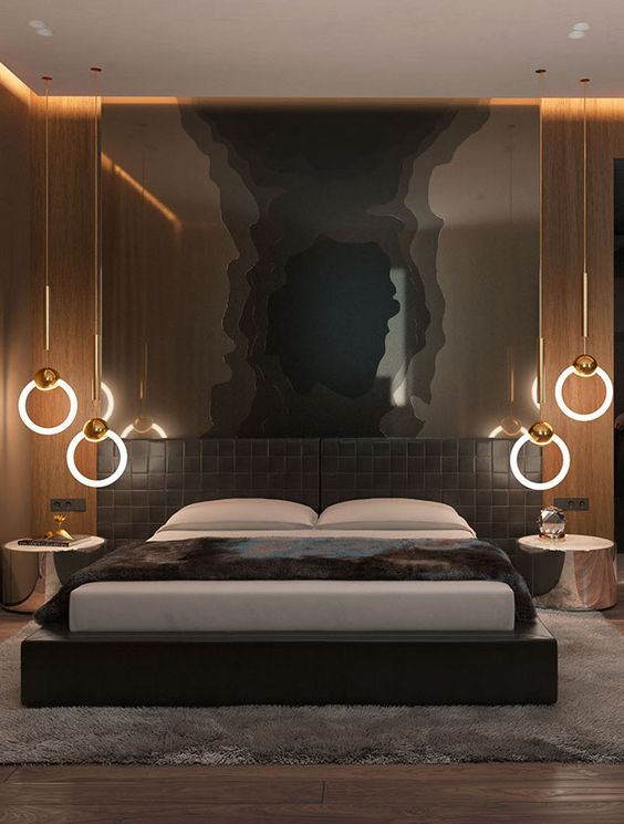 luxury brown bedroom