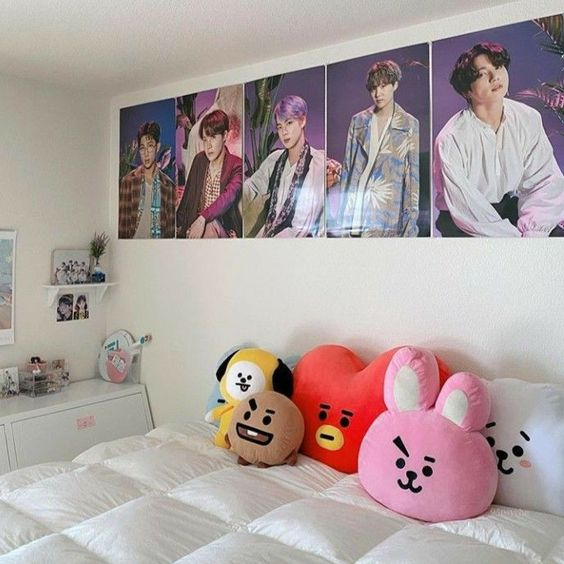 BT21 dolls korean bedroom decors