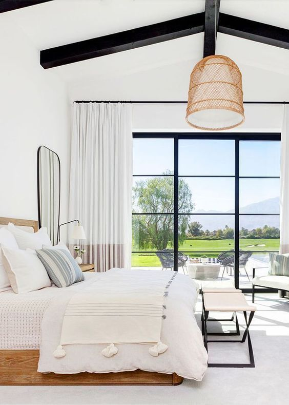 maximizing natural lighting to minimalist bedroom