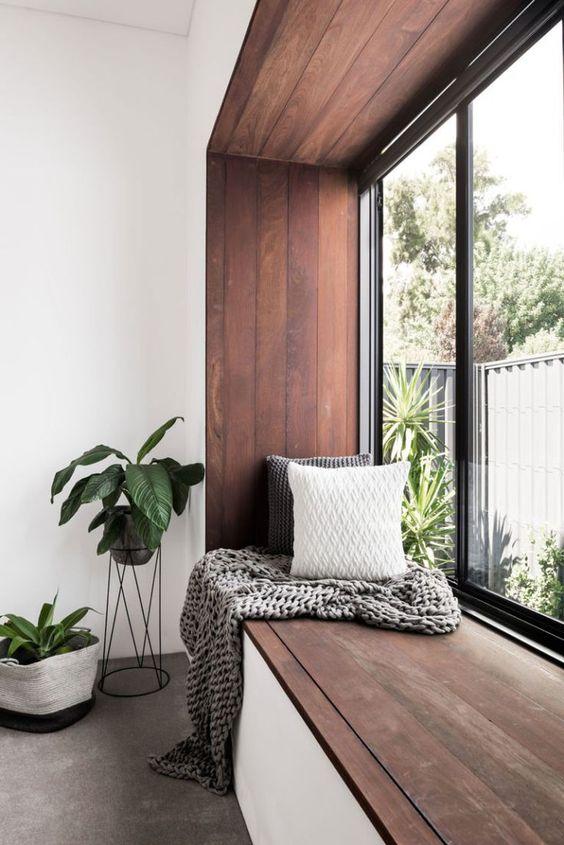 long window bench for maximizing natural lighting