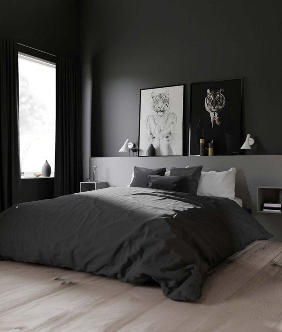 gray bedroom decors