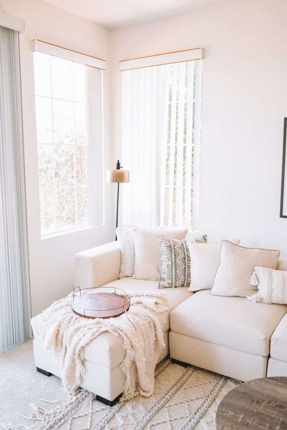beautiful ivory white living room