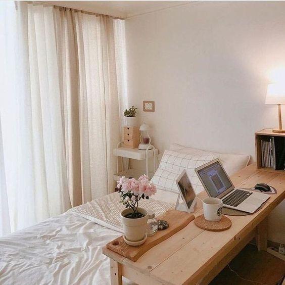 comfortable korean bedroom