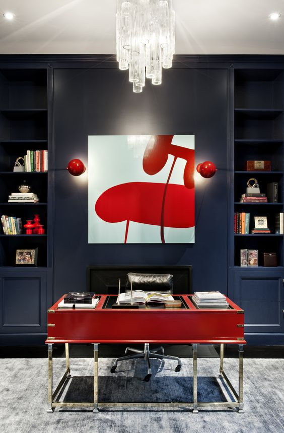 sexy look interior with red accents