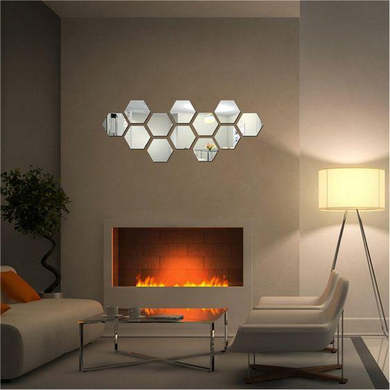 hexagon modern living room decor