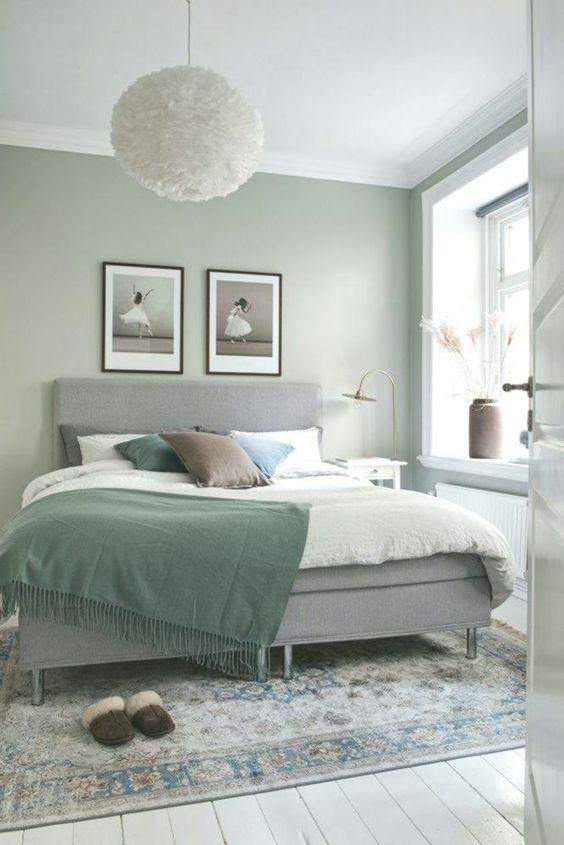 fresh green bedroom