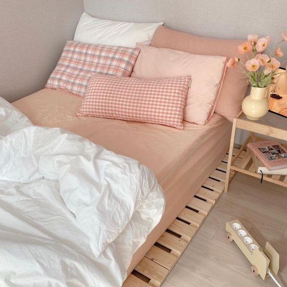 pallet bedframe korean bedroom decors