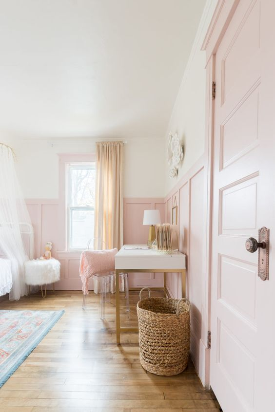 beautiful soft pink bedroom