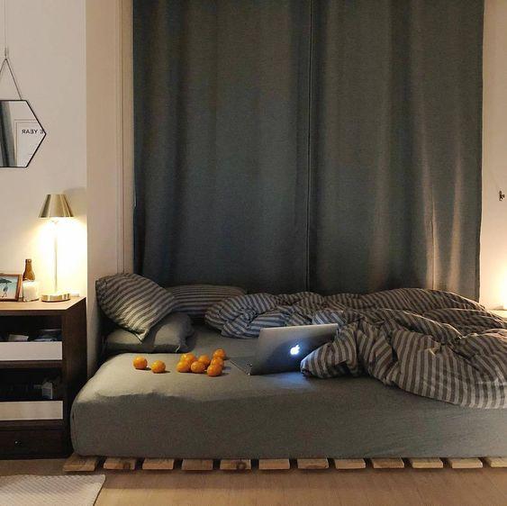 minimalist korean bedroom