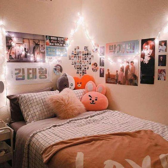cute korean bedroom