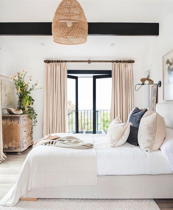 bright minimalist modern bedroom