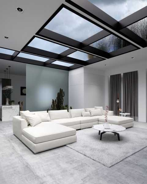 minimalist modern house skylight