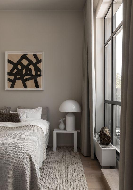 beautiful taupe bedroom