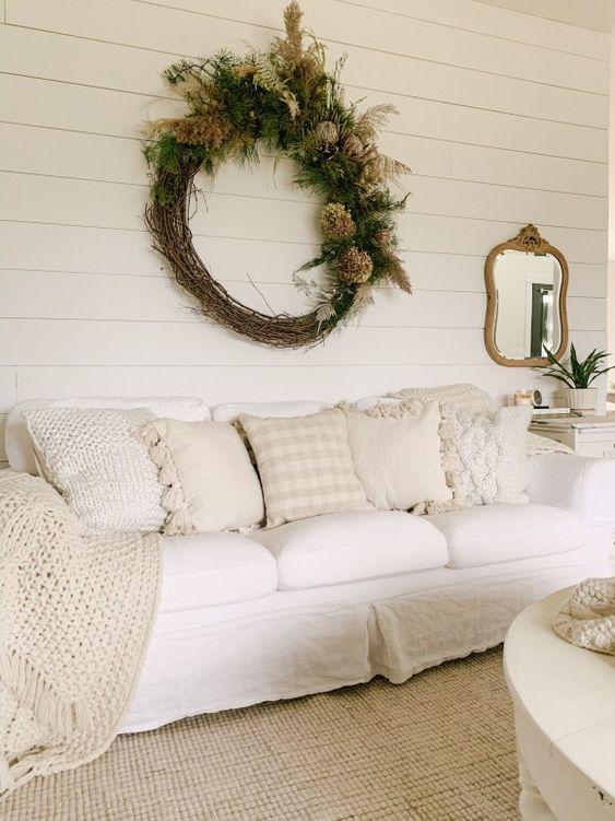 shabby chic christmas living room