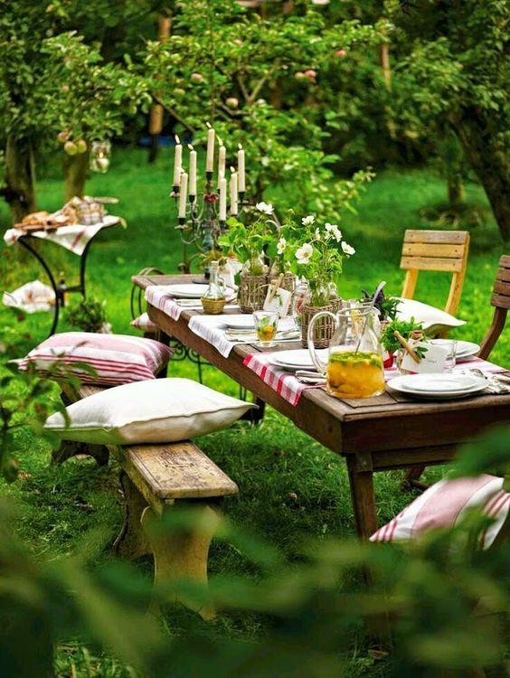 romantic outdoor dining room