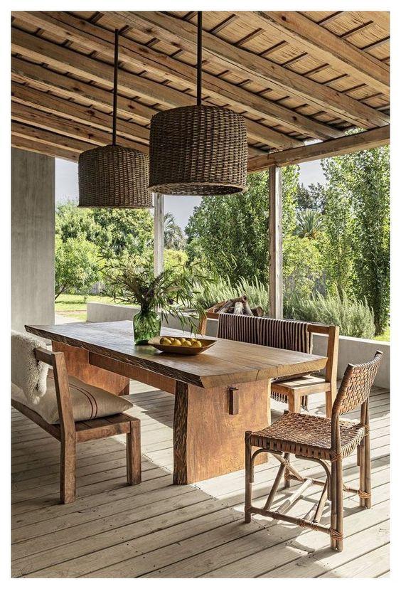 rustic outdoor dining room