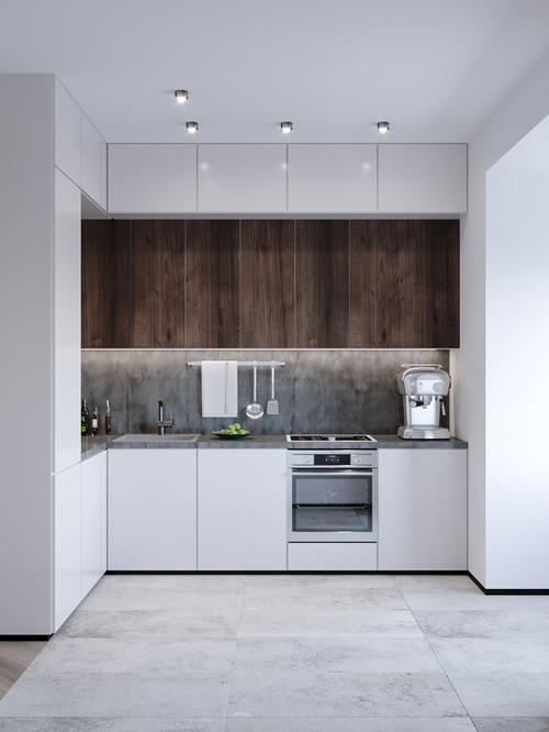 open plan minimalist kitchen